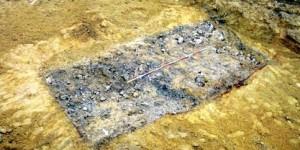 Archeologický objekt ve výkopu