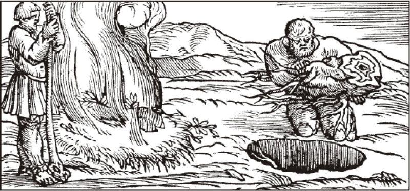 paleni-uhli-v-zemni-jame