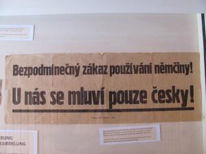Poválečná vyhláška z Jindřichohradecka.